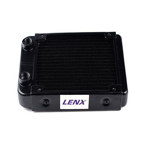 LENX 18 Pipe Aluminum Heat Exchanger Radiator for PC CPU CO2 Laser Water Cool System Computer 120mm(B) (Pc Radiator 120mm compare prices)