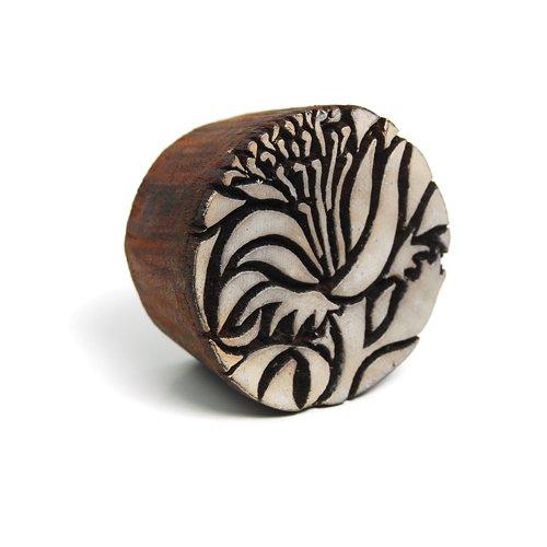International Arrivals Blockwallah Wooden Stamp, Hibiscus Flower