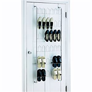 Click Here For special Size Organize It All Over The Door 18 Pair Wire Shoe Rack