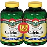 Spring Valley - Calcium 600 mg with Vitamin D , Twin Pack, 500 Tablets