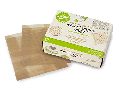 Natural Value Waxed Paper Bags -- 60 Bags (Natural Value Wax Paper compare prices)