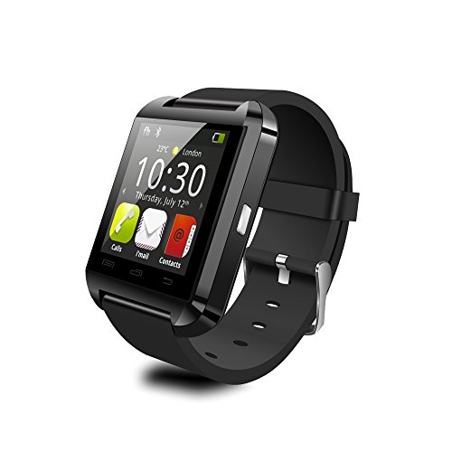 "YAMAY(TM) 2015 HOT U8 Android Bluetooth 4.0 Smartwatch with 1.44"" Capacitive Touch Panel Screen Built in Speaker Fitness Smart Watch Healthy Pedometer for Sport Running Sleep Monitoring (Black)"