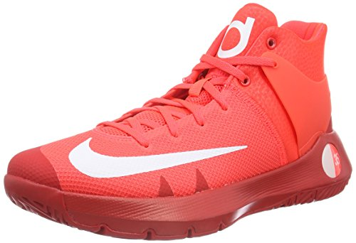 Nike Kd Trey 5 Iv, Scarpe da Basket Uomo, Rosso (Bright Criimson/White-University Red-M), 45 EU