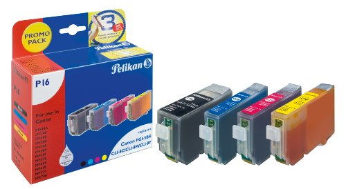Pelikan Confezione risparmio  P16, sostituisce Canon PGI-5 bk, CLI-8 c, -8 m, -8 y