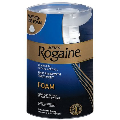 Men's Rogaine Hair Regrowth Treatment Foam, 3