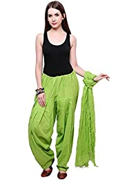 Mango People Products Full Cotton Patiala Salwar With Dupatta ( Special Parrot Green)