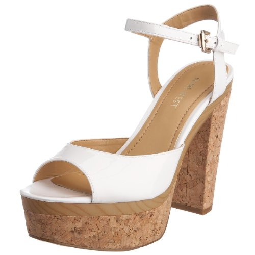 Nine West Women's Bigbaby Heeled Sandal White 1108310309 7 UK