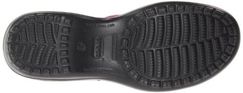 crocs Women's 14918 Capri Sequin Sandal,Fuchsia/Black,8 M US