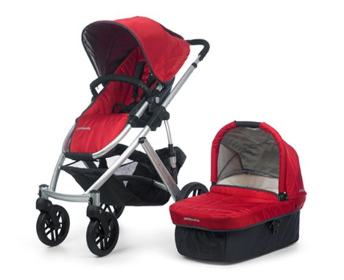 Find Discount UPPAbaby Vista Stroller, Red/Denny