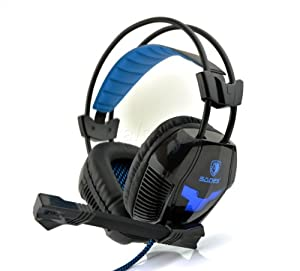 Sades A30 7.1 Surround Sound Effect USB Gaming Headset Headphone with Mic (Black)