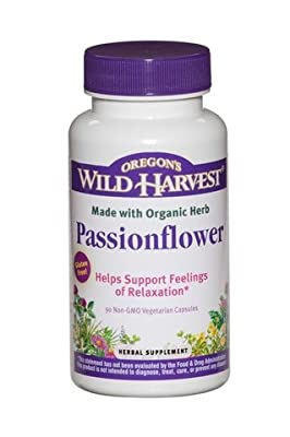 Organic Passionflower - Helps Support Feelings of Relaxation - 2 Pak (2x 90 Non-GMO Vegetarian Capsules)