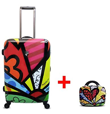 Heys USA - 2pcs. - SET 50 GBP Discount - Britto A Day, High-quality designer artist luggage set - 66 cm 4-wheels Trolley and Beauty Case by Heys USA