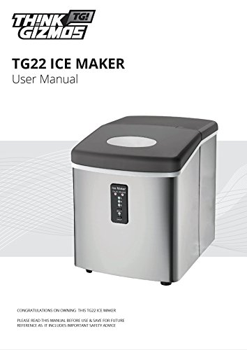 Ice-Machine-Portable-Counter-Top-Ice-Maker-MachineTG22-Produces-26-lbs-Of-Ice-Per-24-Hours-Stainless-Steel-By-ThinkGizmos-trademark-protected