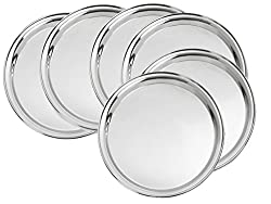King International ROUND TRAY,Dinner Plate,Mess Plate SET OF 6 PCS 30 cm