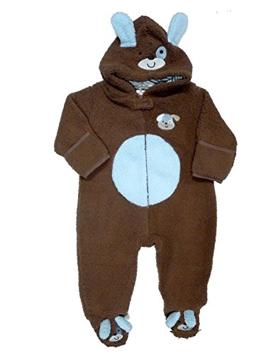 Baby Gear Infant Boys Plush Brown & Blue Faux Shearling Puppy Snowsuit Baby Pram