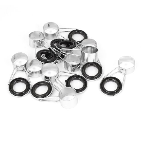 10Pcs 18.5Mm Connector Inner Dia Metal Fishing Pole Ring Guide Tip