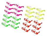 Fireworks Glasses - 24 pair - Neon Frames Glow in Black Light