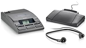 Philips LFH 720 Desktop 720 Analog Mini Cassette Transcription System with Earphones, Foot Control and Power Supply