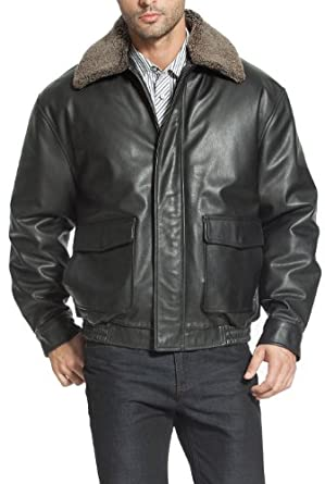 Landing Leathers Men's Heavy Duty Cowhide Leather Aviator Flight Bomber Jacket - XLT
