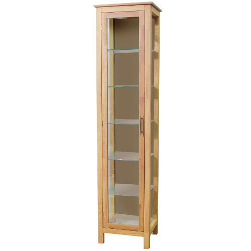 ASPEN - Solid Wood + Glass Display / Storage Cabinet