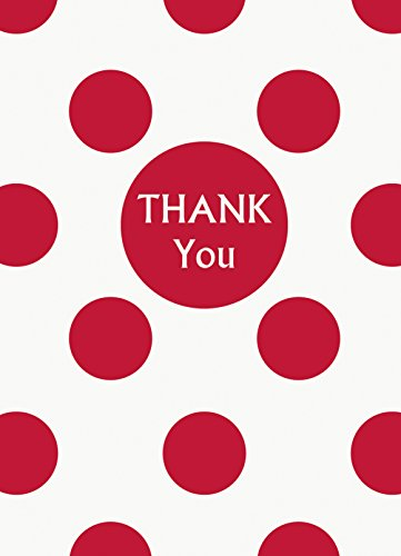 Unique Red Polka Dot Thank You Notes, 8 Count