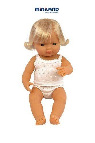 "Miniland Baby Doll European Girl (38 Cm, 15"") front-491690"