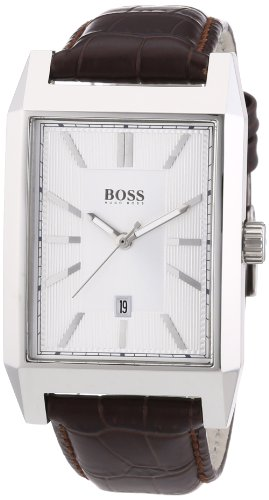 Hugo Boss  - Reloj Analógico de Cuarzo para Hombre, correa de Cuero color Marrón