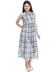 Designeez Multicolor Chiffon Full Length Maxi Dress