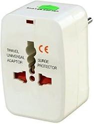 CONNECTWIDE-Universal Travel Charger Multi-Plug, AU/EU/UK/US/CN Worldwide Adaptor