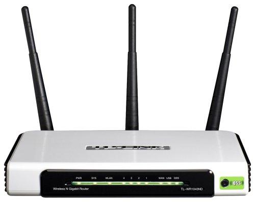 TP-Link TL-WR1043ND Routeur Gigabit sans fil N 300 Mbps Switch 4 ports Gigabit + 1 port USB 2.0 3 x antenne 3dBi