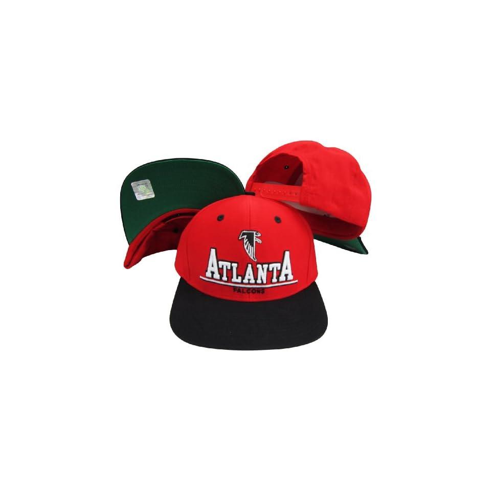 3d0c4cf0530 Atlanta Falcons Red Black Two Tone Plastic Snapback Adjustable Plastic Snap  Back Hat   Cap
