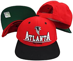 Atlanta Falcons Red Black Two Tone Plastic Snapback Adjustable Plastic Snap Back Hat... by Reebok