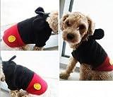 ドッグウェア ミッキー風 犬服 トレーナー ワンちゃんがミッキーマウス風に 【小型犬用~大型兼用】 (S)