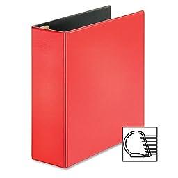 Cardinal EasyOpen Locking Slant-D Ring Binder - 4quot; Binder Capacity - Letter - 8.50quot; Width x 11quot; Length Sheet Size - 775 Sheet Capacity - 3 x D-Ring Fastener - 2 Pockets - Polypropylene - Red - 1 Each