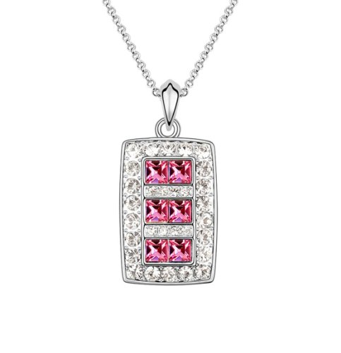 Boxingcat Fine Jewelry Swarovski Style Clear Austrian Crystal Pendant Necklaces Bgca5914 front-854043