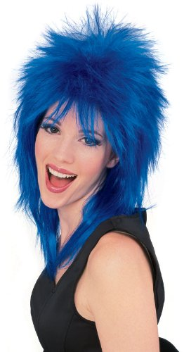 Rubie's Costume Rock Star Blue Spiked Wig