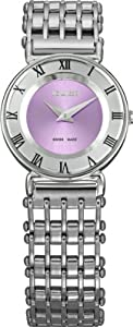 Jowissa Women's J2.019.S Roma Pastell Stainless Steel Purple Dial Roman Numeral Watch