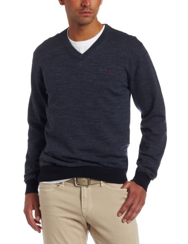 Fred Perry Men's Vintage Marl V-Neck Sweater