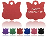 "Cat Face Pet Tags ! Enter details in ""Gift Message area at checkout"