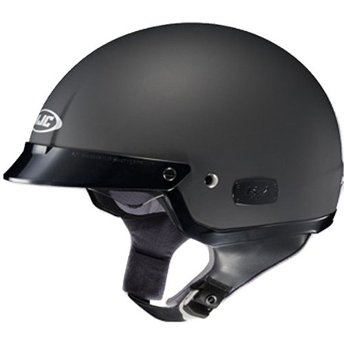 HJC Solid Men's IS-2 Harley Cruiser Motorcycle Helmet – Matte Black / Large