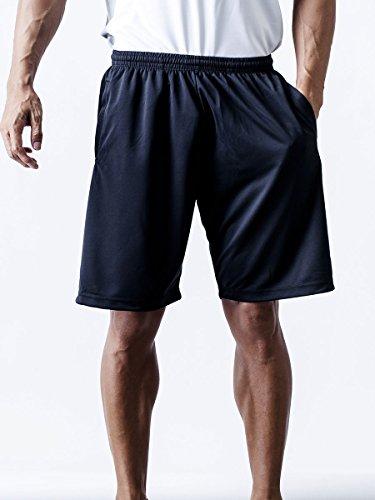 (ティーシャツドットエスティー) Tshirt.st 通気性に優れた ドライ メッシュ ハーフパンツ ブラック LL