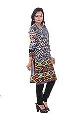 KIMYRAA Women's Cotton Kurta (KLK-1009-MULTI-XL)