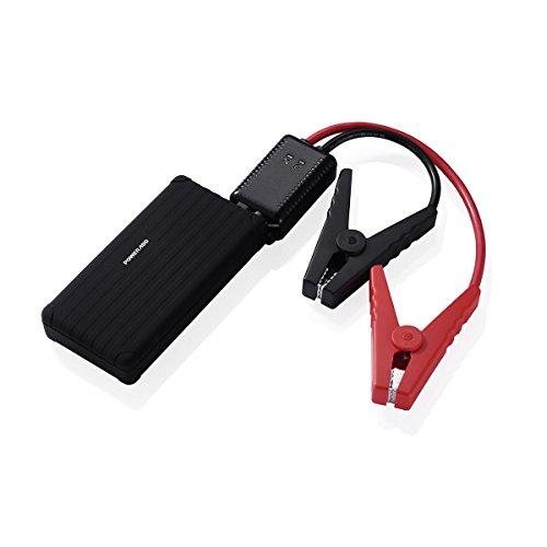 Poweradd Carmate Pro Jump Starter Paquete de Emergencia para Arrancar el Coche de Gasolina o Gasoil (12V 6000mAh) Cargador de Batería Batería Externa con LED (Linterna LED, SOS) para Smartphones Tablets y Otros Más Dispositivos - Negro