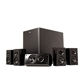 Klipsch HD 300 Compact 5.1 High Definition Theater system (Set of Six, Black)