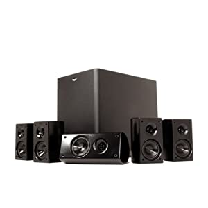 Klipsch HD 300 Compact 5.1 High Definition Theater System (Set of Six, Black) (Discontinued by Manufacturer)