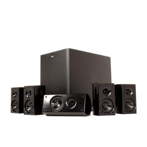 klipsch hd 300 compact 5 1 high definition theater system set of six black best price best. Black Bedroom Furniture Sets. Home Design Ideas