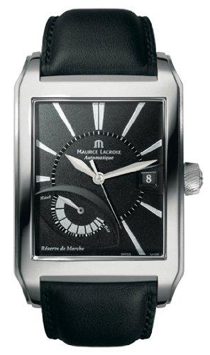 Maurice Lacroix Pontos Rectangulaire Reserve de Marche Automatic SS Mens Watch pt6167-ss001-330