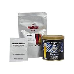 Mr. Beer Bavarian Weissbier Deluxe Home Brewing Beer Refill Kit
