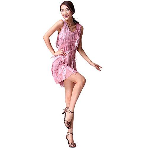 FaithYoo -  Vestito  - Maniche lunghe - Classico  - Donna Gold Taglia unica