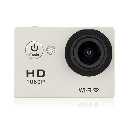 "Excelvan Y8-P Cámara Deportiva DV (2.0"" Pantalla LCD, Impermeable 30M, WiFi, 12MP, Full HD H.264, 1080P, 140°Gran Angular, USB HDMI TV), Plateado"